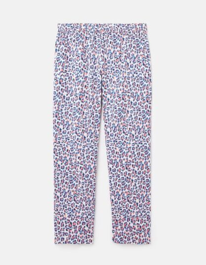 Joules Slumber Pyjama Bottoms Lilac Leopard