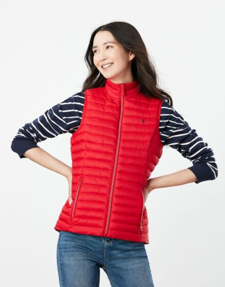 Joules Snug Packable Gilet Red