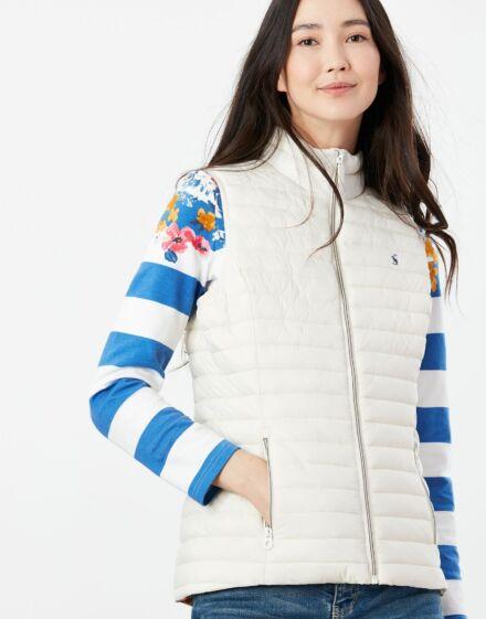 Joules Snug Packable Gilet Winter White