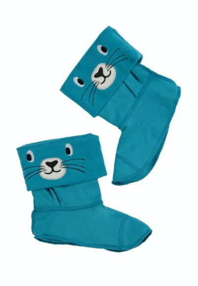 Frugi Warm Up Welly Liner Tobermory Teal/Seal