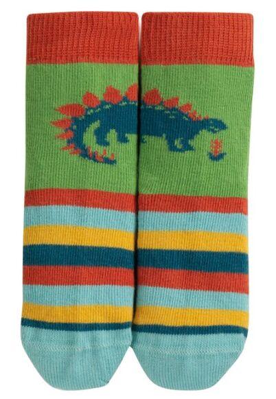 Frugi Perfect Little Pair Socks Meadow Dino