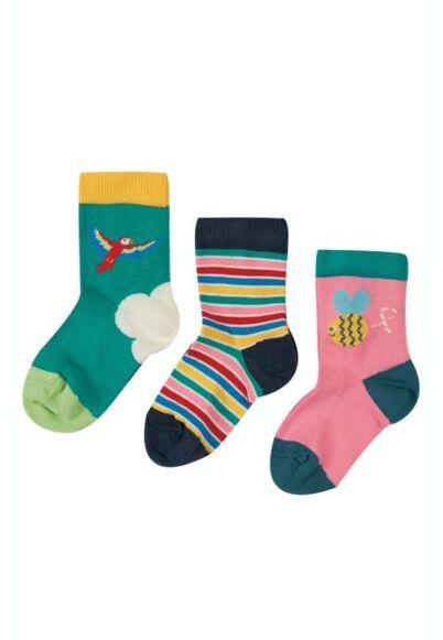 Frugi Little Socks 3 Pack Bee Multipack