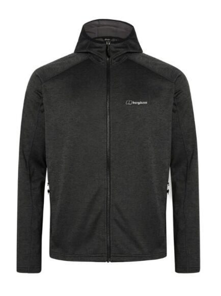 Berghaus Men's Spitzer Hooded Interactive Jacket Black/Grey
