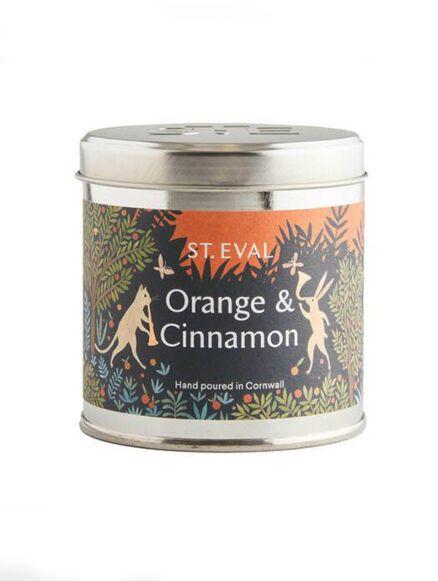 St Eval Orange & Cinnamon Chirstmas Tin Candle