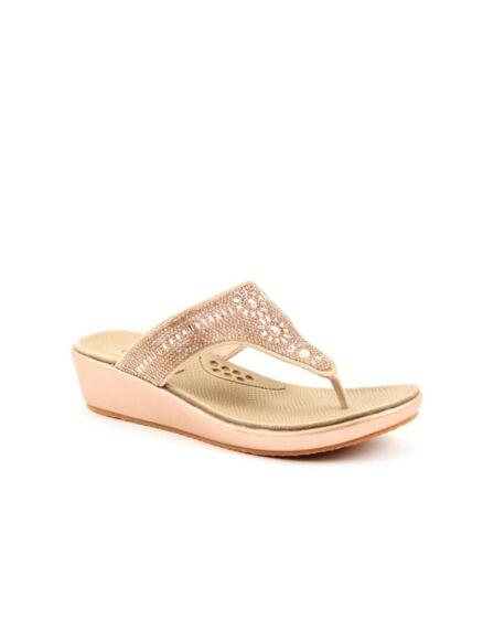 Heavenly Feet Star Sandals Rose Gold