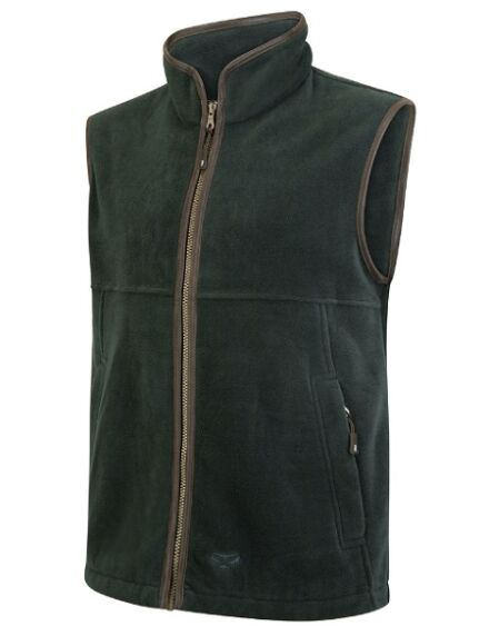 Hoggs of Fife Men's Stenton Fleece Gilet Pine