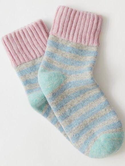 White Stuff Stripe Sock Purple