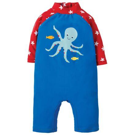 Frugi Little Sun Safe Suit Sail Blue/Octopus