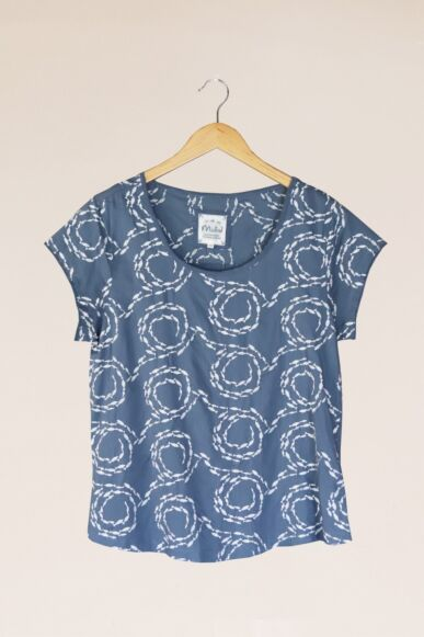 Mistral Swirling Fishes Top Blue/White
