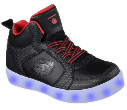 Skechers Boys Energy Lights Tarvos Black/Red
