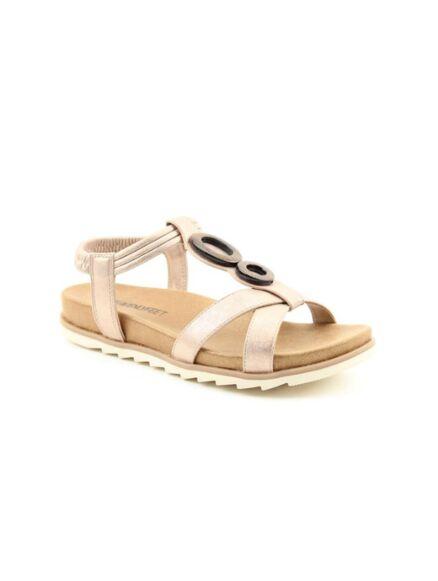 Heavenly Feet Tarragon Sandals Rose Gold