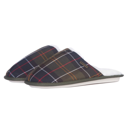 Barbour Maddie Mule Slippers Recycled Classic Tartan