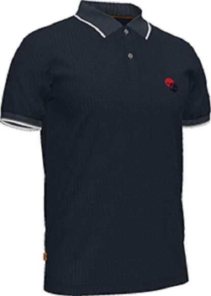 Timberland Millers River Tipped Collar Polo Shirt Dark Sapphire