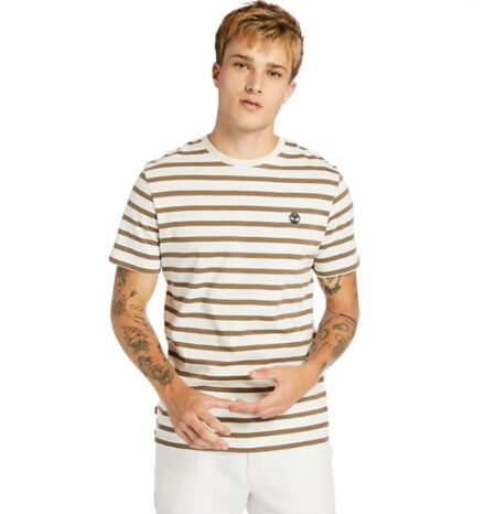 Timberland Zealand River Striped Tee White Sand