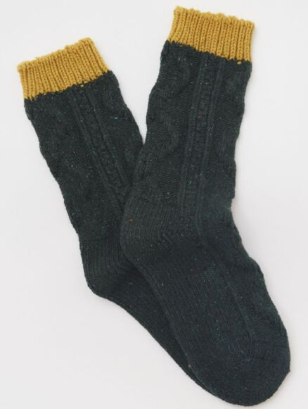 White Stuff Cable Boot Sock Teal