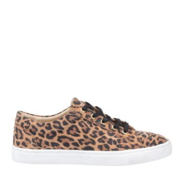 Hush Puppies Tessa Lace Shoes Leopard Print