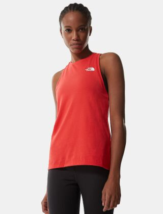 The North Face Foundation Logo Tank Top Horizon Red