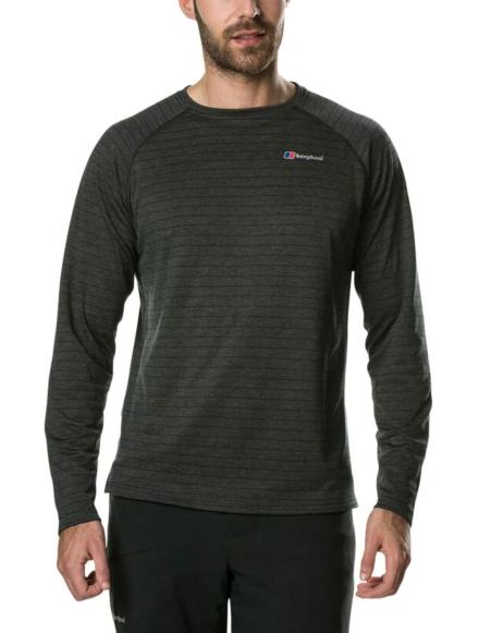 Berghaus Men's Thermal Tech Long Sleeve Baselayer Black/Grey