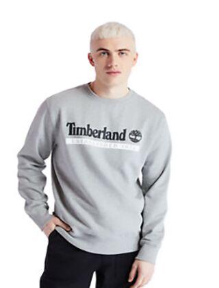 Timberland Est1973 Heritage Crew Neck Sweatshirt Medium Grey Heather
