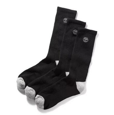 Timberland Three Pack Cushion Crew Socks Black