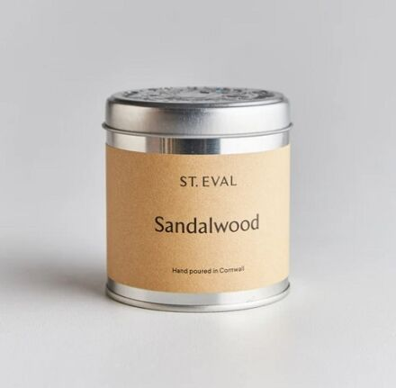 St Eval Scented Tin Candle Sandalwood