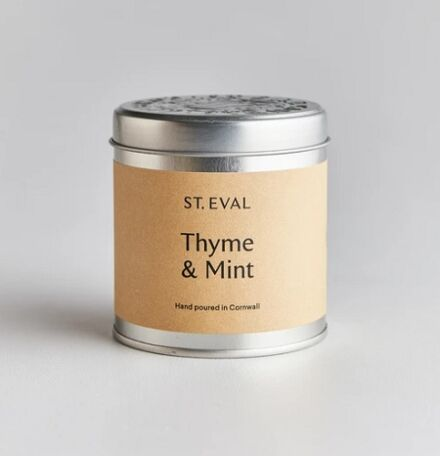 St Eval Scented Tin Candle Thyme & Mint