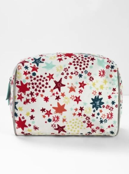 White Stuff Tis the Season Wash Bag Ecru Multi