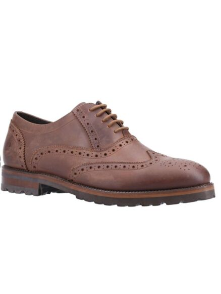 Hush Puppies Tobias Brogue Shoes Brown