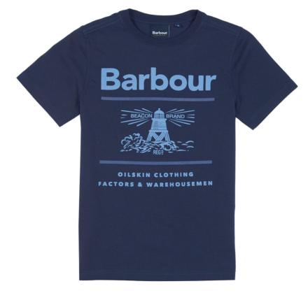 Barbour Boys Reed Tee Navy