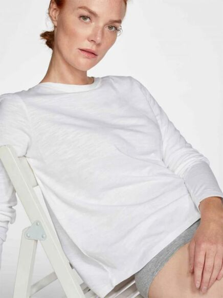 Thought Fairtrade GOTS Long Sleeve Jersey Top White