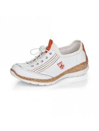 Rieker N42T0-81 Lace Up Shoes White