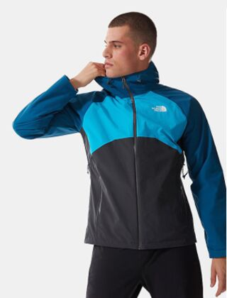 The North Face Stratos Hooded Jacket Asphalt Grey-Moroccan Blue-Meridian Blue