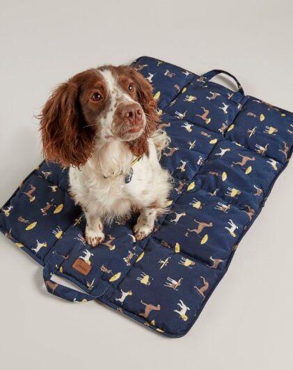 Joules Travel Pet Blanket/Bed Coastal Dog Print