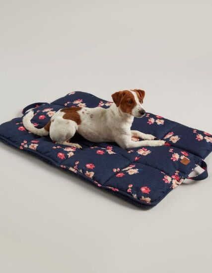 Joules Travel Pet Blanket/Bed Navy Floral