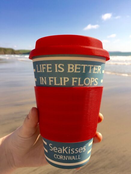 SeaKisses Travel Cup Red
