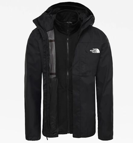 The North Face Men's Quest Zip in Triclimate Jacket Black