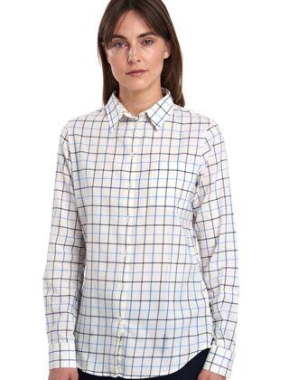 Barbour Triplebar Check Shirt Oxford Blue Check