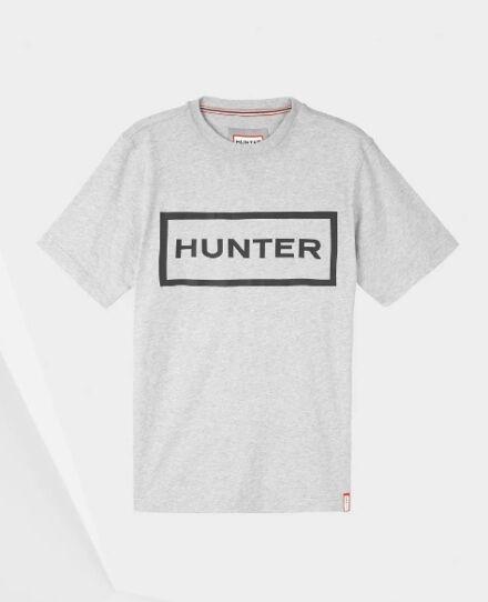 Hunter Men's Original Logo T-Shirt Grey Marl/Black