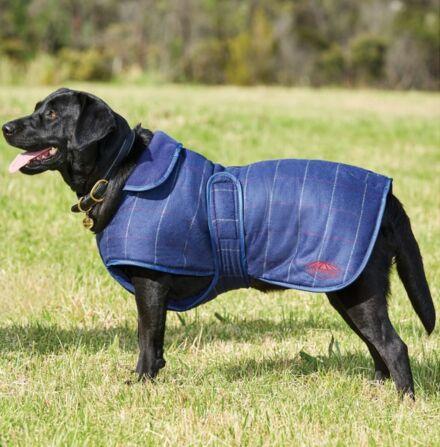 Weatherbeeta Tweed Dog Coat II Navy