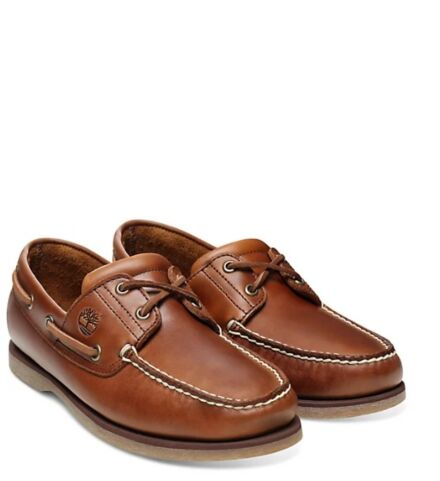 Timberland Men's Classic Full Grain 2-Eye Boat Shoe Light Brown