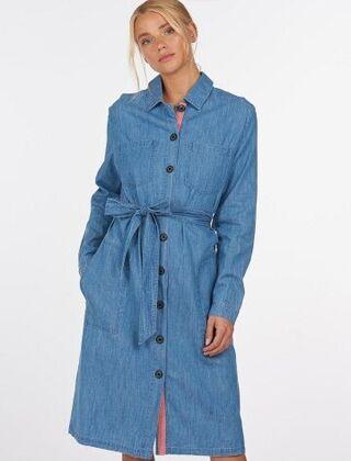 Barbour Tynemouth Dress Authentic Indigo