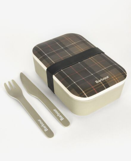 Barbour Bamboo LunchBox & Cutlery Classic Tartan
