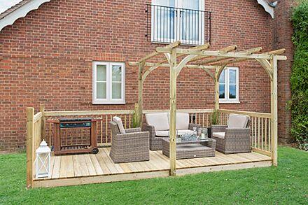 Forest Garden Ultima Pergola & Decking Kit 2.4 x 4.9m