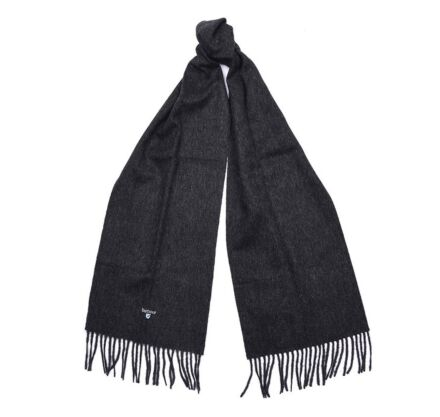 Barbour Plain Lambswool Scarf Charcoal/Grey