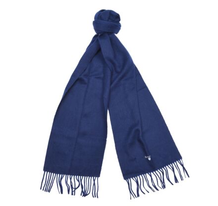 Barbour Plain Lambswool Scarf Navy