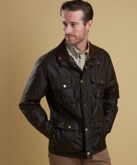 Barbour Utility Wax Jacket Olive