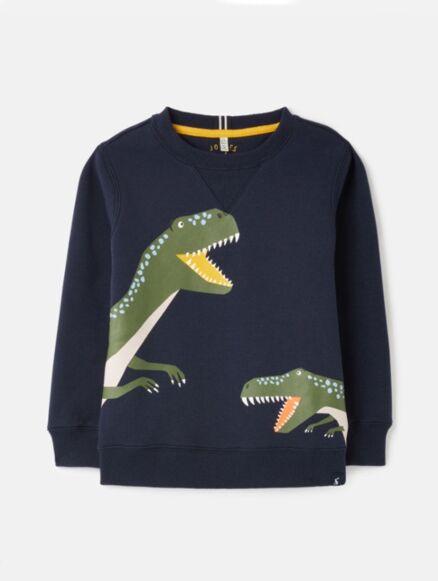 Joules Ventura Crew Neck Sweatshirt Navy Dino