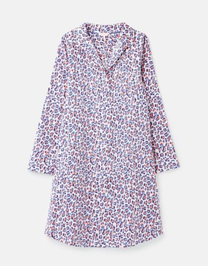 Joules Verity Nightdress Lilac Leopard