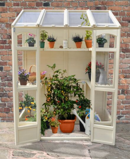 Forest Gardens Victorian Tall Wall Greenhouse with Auto Vent