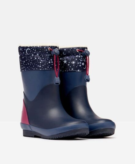 Joules JNR Warm Wellies French Navy